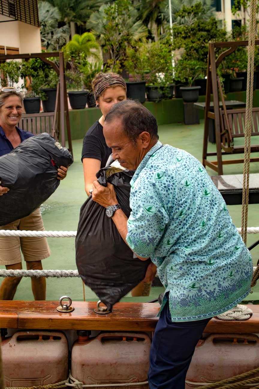 Kits-4-Kids bags arriving from the Jakarta Intercultural School.