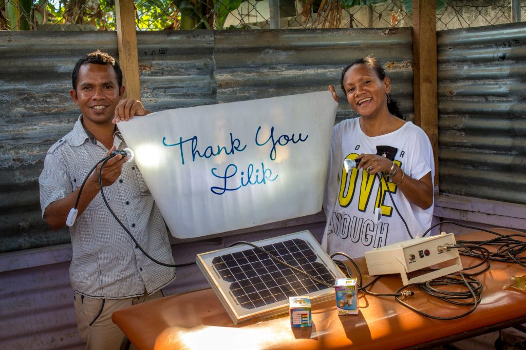 Thanks to our friend Lilik, who sponsored the solarpanels