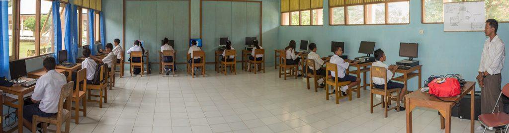 SMA Negeri 2 Waling, the only senior high school in Banda Besar, 343 students.